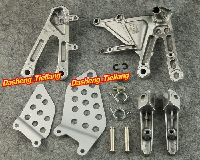 Supports de repose-pieds en alliage d'aluminium pour moto avant cavalier repose-pieds pour Honda 2004 2005 2006 2007 CBR1000RR/CBR 1000RR