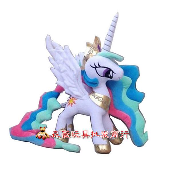 35cm Height My Rainbow Horse Toy Collection Celestia Princess Little Cute Unicorn Plush Horse Toys beanie babies yo gabba gabba plex 35cm plush toys