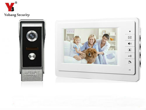 Home 7Inch LCD Monitor Speakerphone Intercom Color Video Door Phone Doorbell Access Control System Door Entry Intercom System 7 inch password id card video door phone home access control system wired video intercome door bell