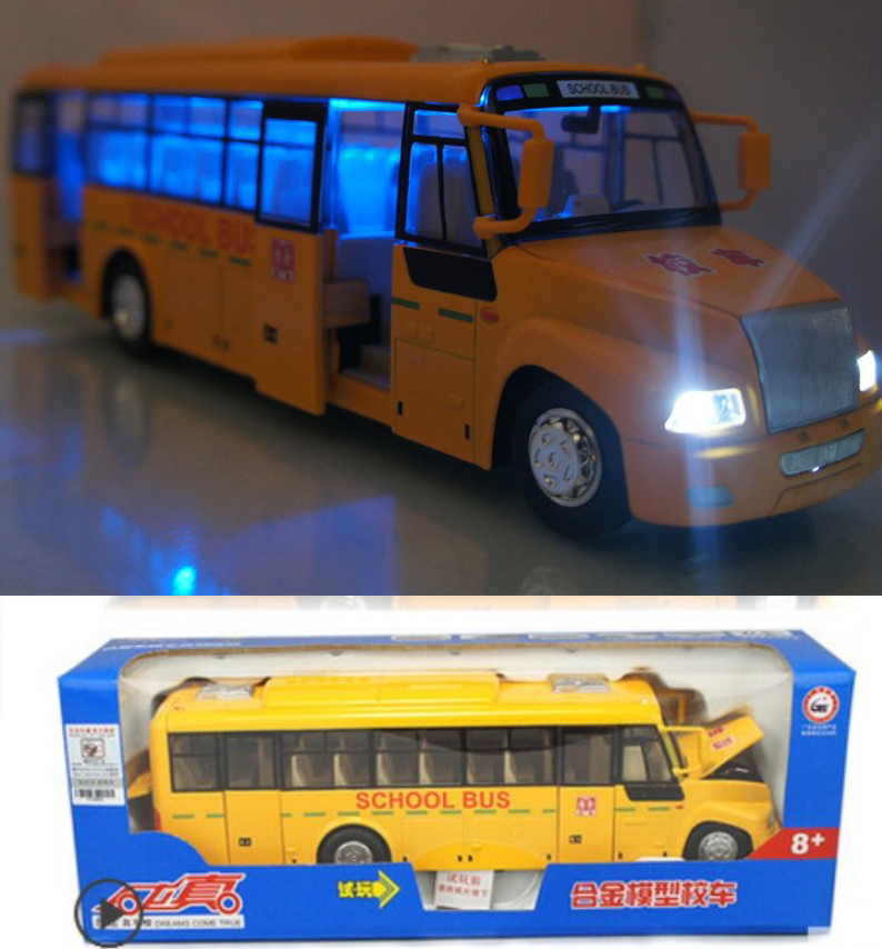 1 65 Alloy Toy Cars Model American Style Transporter Truck: Compare Prices On Large Toy Bus- Online Shopping/Buy Low