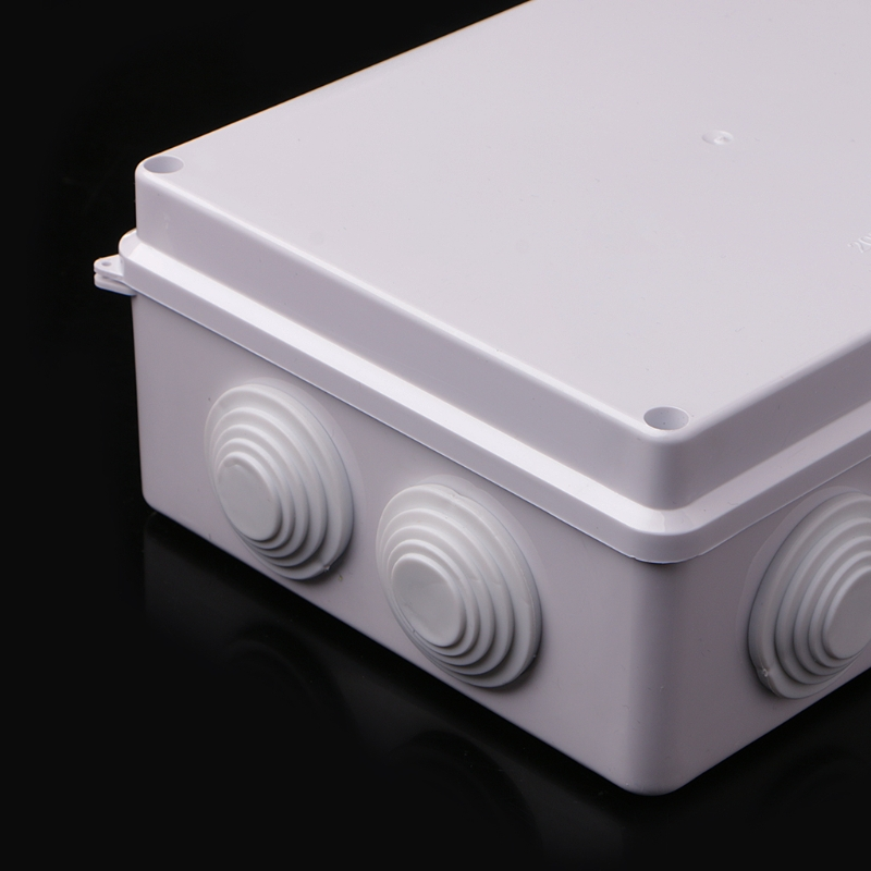 White Waterproof Plastic Enclosure Case Power Junction Box IP65 200mm x 155mm x 80mm waterproof plastic enclosure case junction box 265mm x 185 mm x 115 mm l15