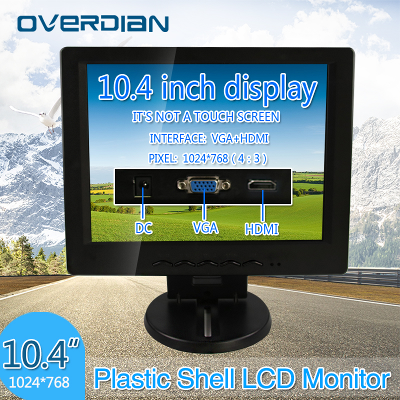 10.4 VGA/HDMI Connector Monitor 1024*768 Song Machine Cash Register Square Screen Lcd Monitor/Display Non-touch Screen sast 10 1 inch display nintaus machine singing old machine 50p lcd screen hw101f 0b 0c 50