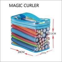 42 pcs/sac avec 18 cm long Magic Hair Bigoudis Outil Magique Bigoudi Rouleaux Torsion Flex Tiges
