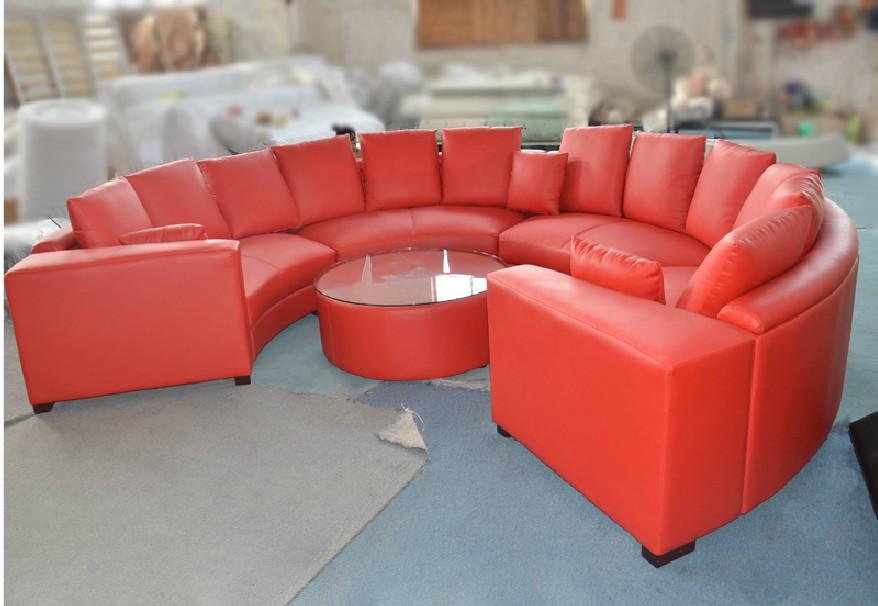 Leren Ronde Bank.Luxe Sofa Extra Grote Zitgroep Mooie Echte Leren Banken Ronde