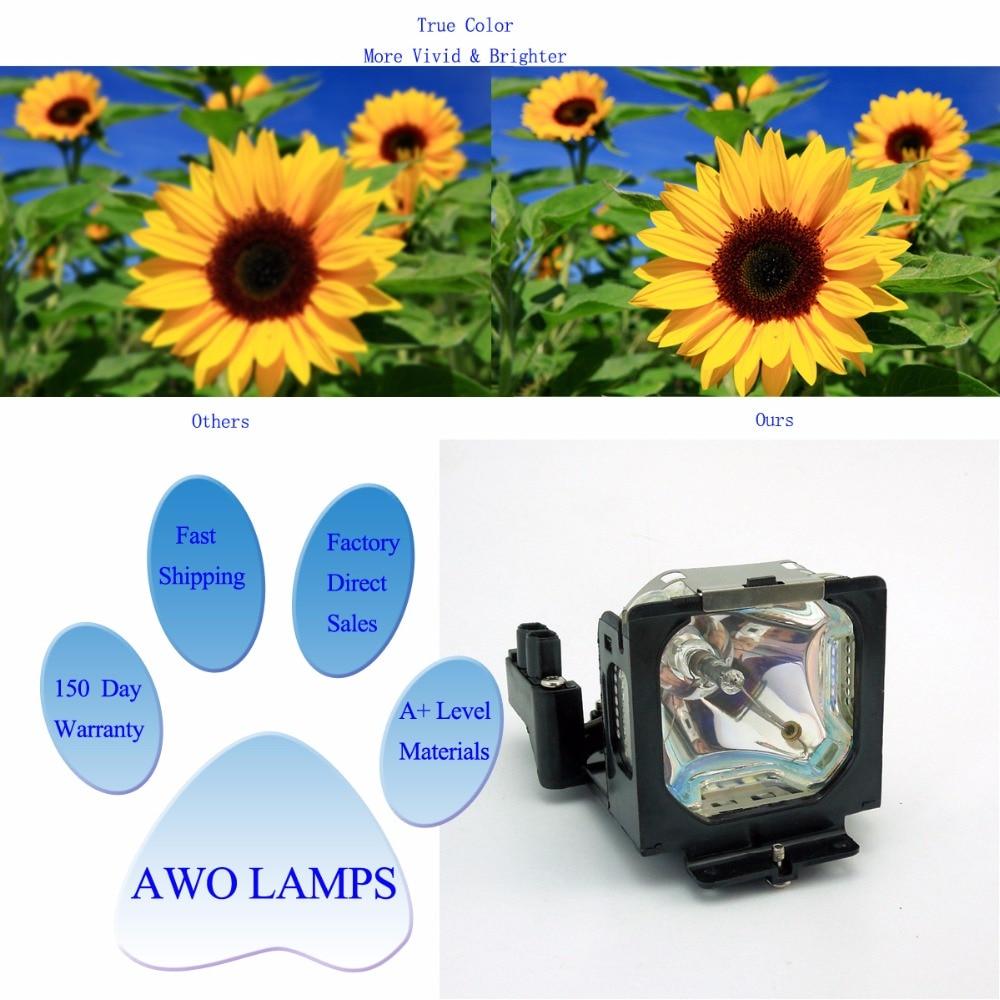 AWO Заміна проектора лампи POA-LMP55 для SANYO - Домашнє аудіо і відео - фото 4