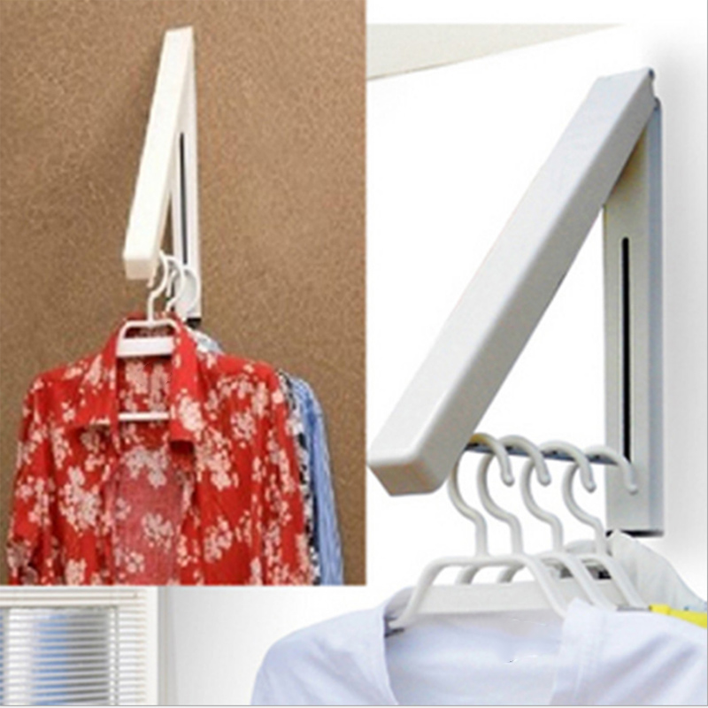 Mount Retractable Clothes Organizer Drying Rack Portable Folding Wall Hanger Waterproof Hangers Hot Sale