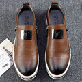 2016 Fashion Mens Casual Shoes Genuine Leather Men Loafers Moccasins Slip On Men'S Flats Male Shoes Black Red Sliver 3 Colors