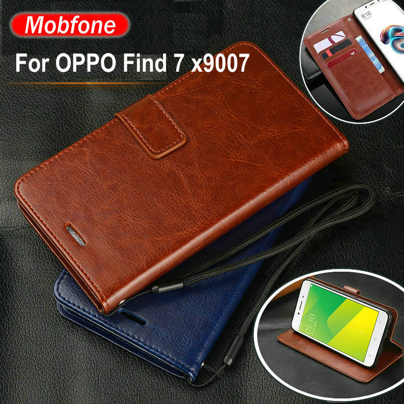 New Vintage Luxury Wallet PU Leather <font><b>Case</b></font> for <font><b>OPPO</b></font> <font><b>Find</b></font> <font><b>7</b></font> Find7 x9007 5.5inch Flip Stand Card Slots Cover Phone Funda <font><b>Cases</b></font> Capa image