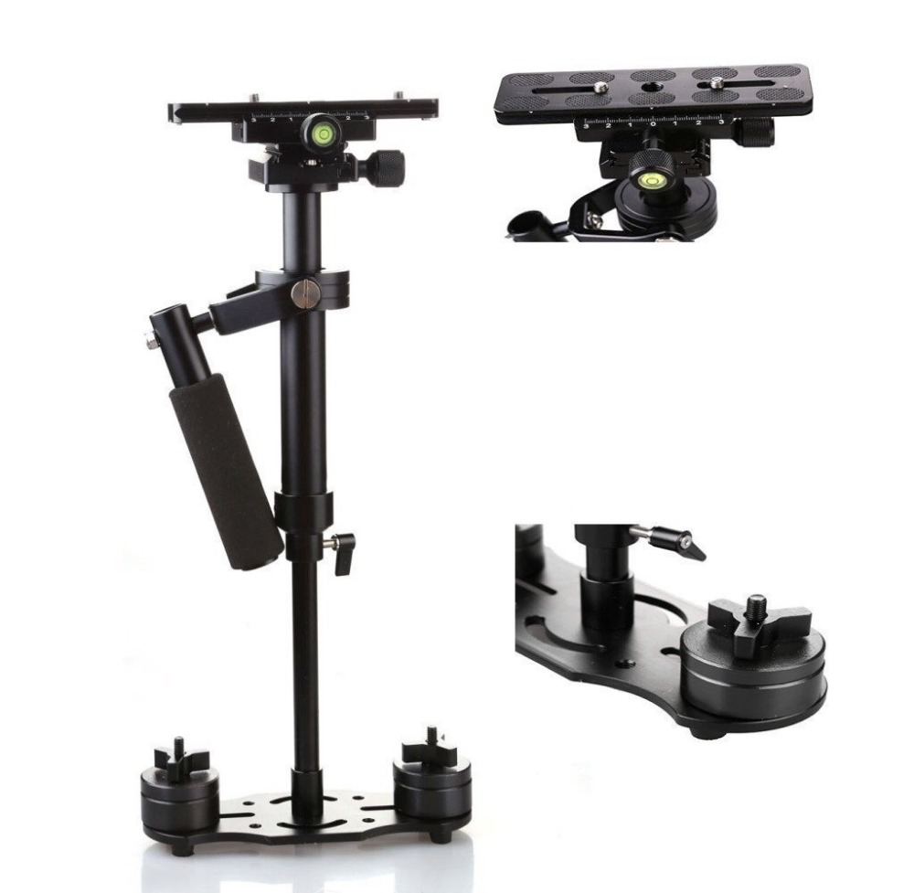 S40 Handheld Steadycam Stabilizer 40cm Steadicam For Canon 5d3 60d 750d Nikon d90 d850 GoProDSLR Video DSLR Camera Tripod+Bag free shipping dhl ems s40 new camera monopod tripod shooting stabilizer for canon 5d3 60d 750d for nikon d90 d850 gopro
