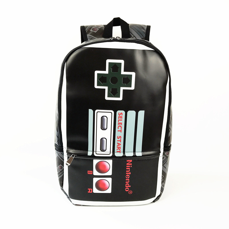 Free Shipping Full PU Leather Nintendo Control Shape Backpack for Teenager School Bag free shipping pu leather harley helmets