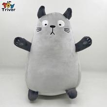 My Neighbor Totoro Japanese Animation Hayao Miyazaki Plush Toy Triver Stuffed Animal Kids Baby Doll Birthday Gift Drop Shipping недорого