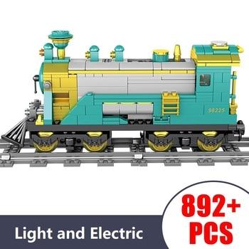 Technic Electric motor Light train track Car model Bricks Building Blocks toys for Childrens gift 892Pcs