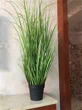 En gros et de détail 1 pc PVC Plastique Artificielle Vert Herbe Décor Plante Pour Chambre Jardin Patio 120 cm