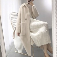 genuine mink cashmere sweater women pure cashmere cardigan knitted mink jacketn winter long fur coat free shipping 2019