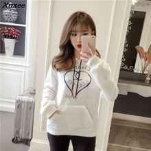 INS new 2018 autumn winter women ladies fashion brand Long sleeve fleece COCO hoodie sweatshirts Harajuku pull tracksuit coat