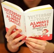 Симпатичные Ноутбук Red Hat Девушка Повестки Дня Недельный План Путешествия Дневник Ежедневник Журнал Record Канцелярские Офис-Профессиональное Это