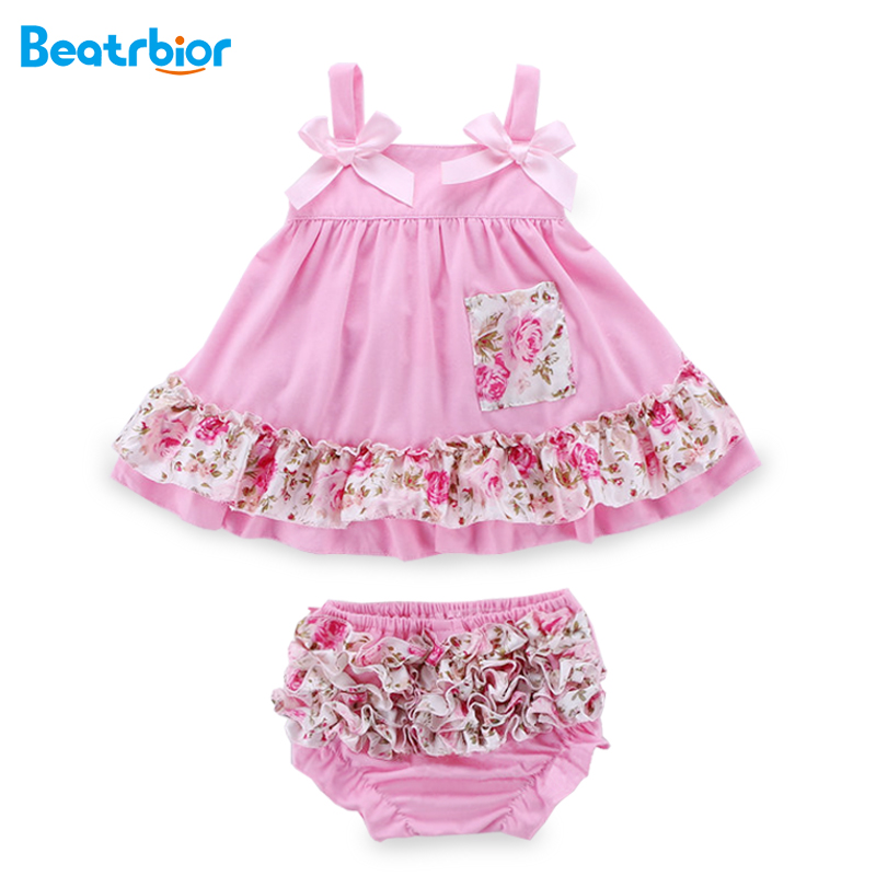 Summer Baby Girl Dress and Underwear Baby Set Newborn Infant Sling Bat Floral Baby Clothing Sets Bebes Body Suit стул coleman summer sling 205147
