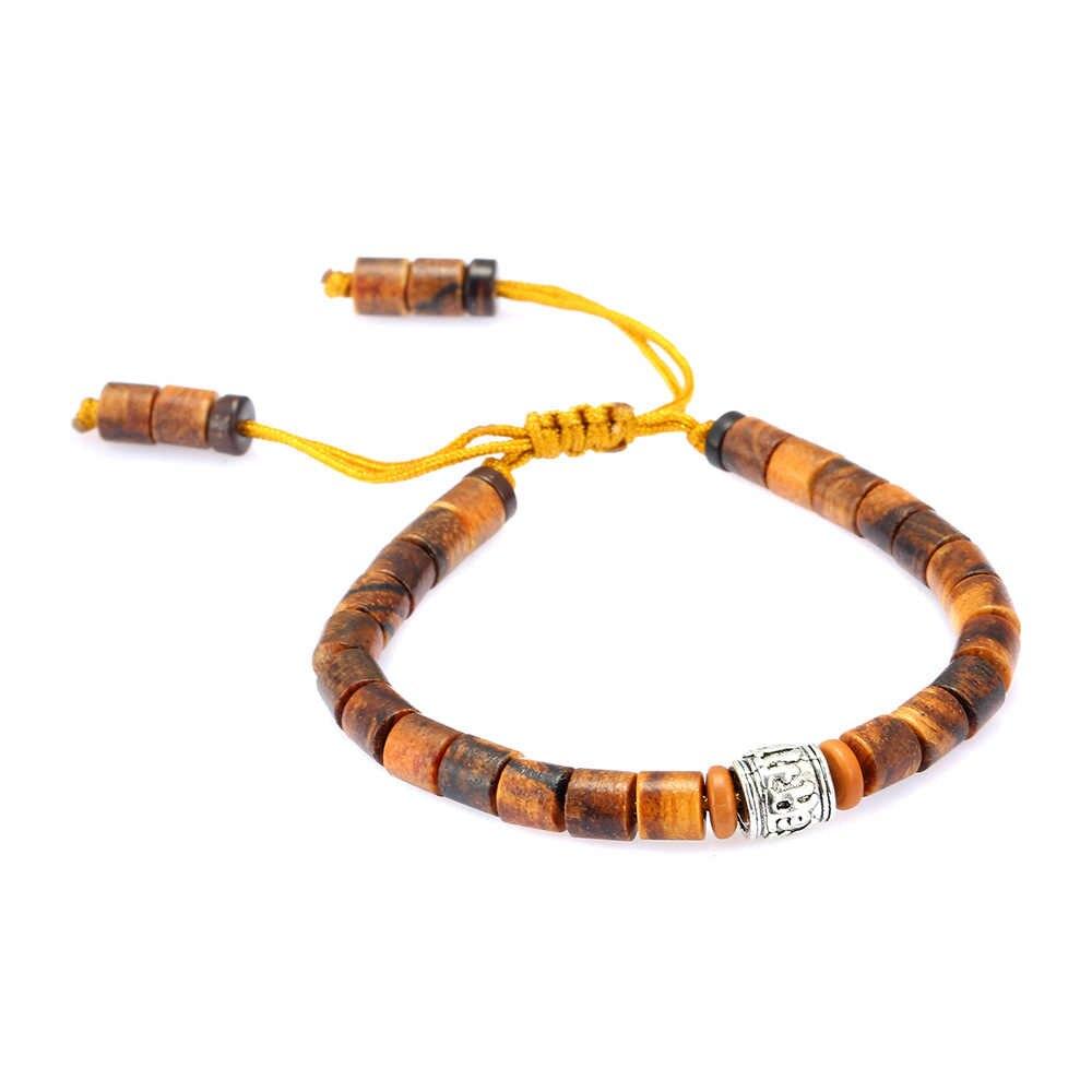 Boeycjr budismo contas de madeira pulseiras e pulseiras fasion jóias artesanais energia sorte casal pulseira para mulher ou homem