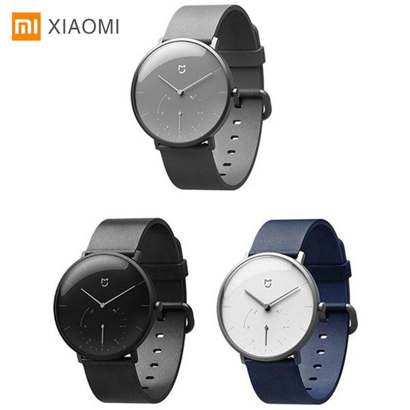 Xiaomi Mijia Smart reloj de cuarzo IP67 impermeable Smartwatch Bluetooth4 3ATM podómetro Wristband tiempo de calibración automática vibración