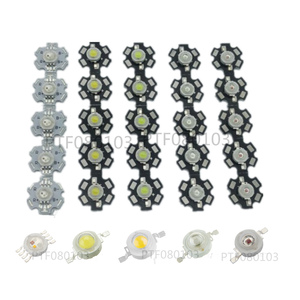 100PCS 1W 3W LED COB Lamp Chip Warm white White Red Blue Yellow Green UV  LED Bulb Diode Beads For DIY LED Floodlight Spotlight