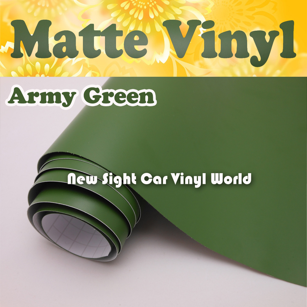 High Quality Army Green Matte Vinyl Film Wrap For Car Stickers Air Free Size:1.52*30m/Roll(5ft x 98ft) часы nixon corporal ss matte black industrial green