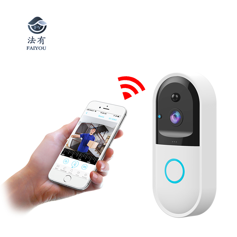 Wireless WIFI Remote Monitoring Doorbell 6 Months Long Working Time PIR Motion Detection Send Alarm Message 170 Angle Degree