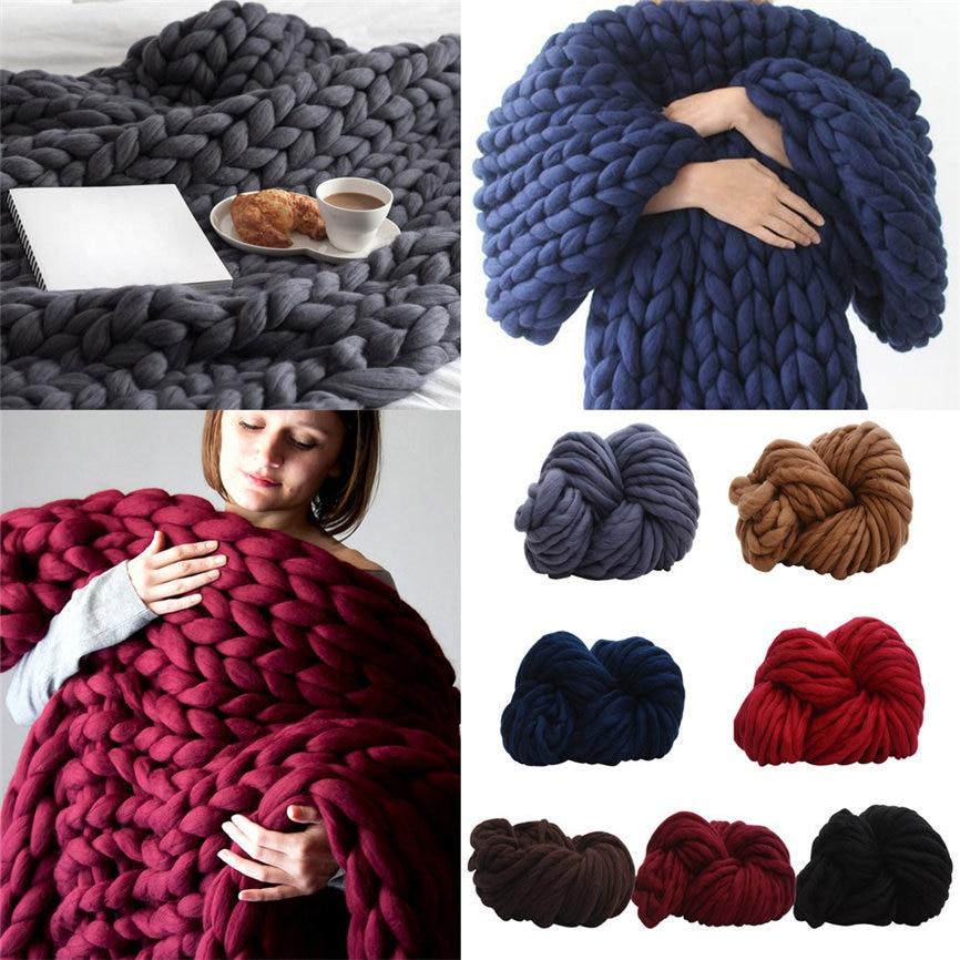 Super Soft Warm 250G DIY Wool Yarn Bulky Arm Knitting Wool Roving Crocheting Wollen Ball For Hat Blanket Scarf As Gift 1206