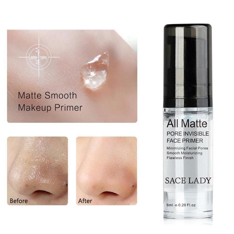 SACE LADY Face Base Primer Cream Liquid Matte Fine Lines kontrola oleju krem do twarzy rozjaśniający podkład podkładowy makijaż kosmetyczny 4