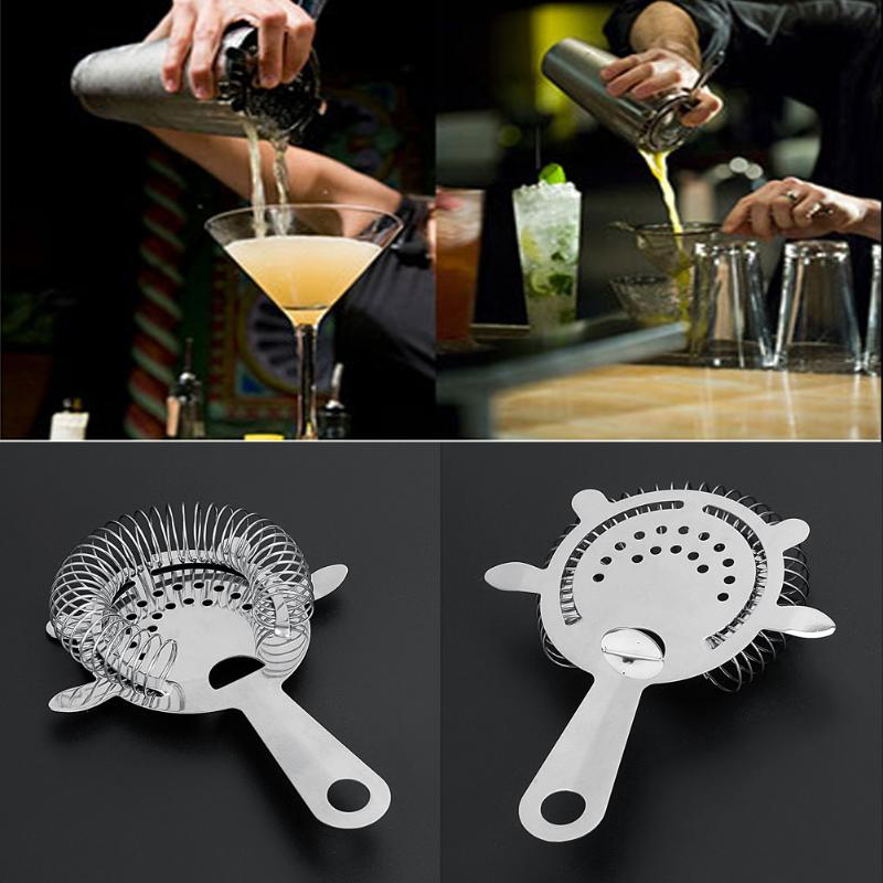 1pc Stainless Steel Bar Strainer Cocktail Shaker Ice Strainer Bartender Bar Percolator Colander Ice Strainer Mixed Barware