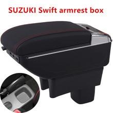 Центральная консоль коробка для хранения Suzuki Swift 2005-2019 подлокотник вращающиеся автомобильные аксессуары