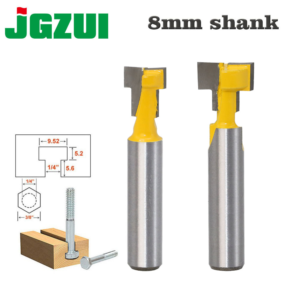 1pc 8mm Shank High Quality T-Slot Cutter Router Bit For 1/4