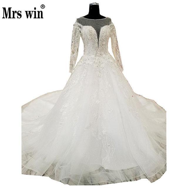 Real Photo White Ball Gown Bridal Wedding Dress Vintage Muslim ...