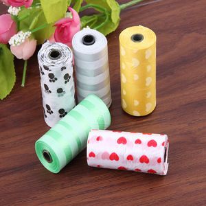 Image 3 - 10 Rolls Paw Printing Dog Poop Bag 15 Bags/ Roll Large Cat Waste Bags Doggie Outdoor Home Clean Refill Garbage Bag