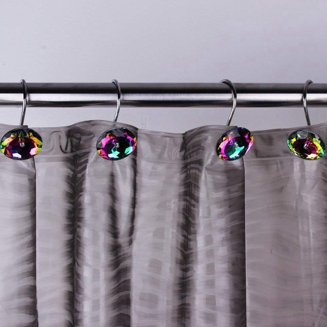 Hot Sale Decorative Shower Curtain Hooks Acrylic Rhinestones