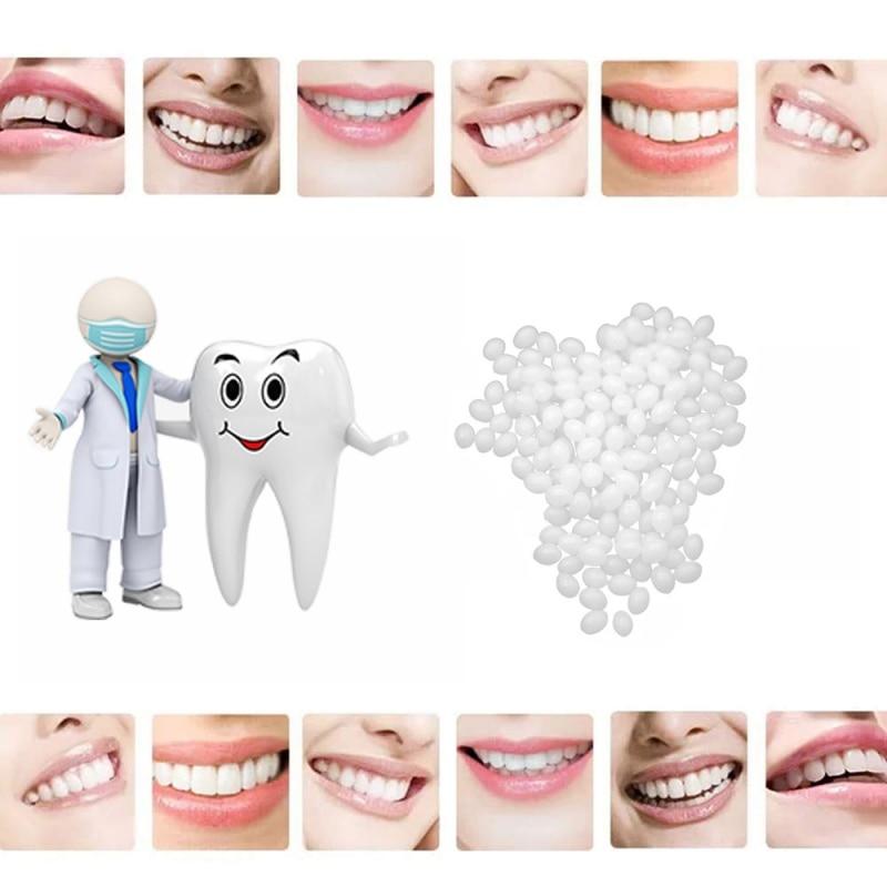 2019 Natural Tooth Repair Set Resin False Teeth Solid Glue Temporary Teeth Solid Glue Denture Adhesive Teeth Dentist