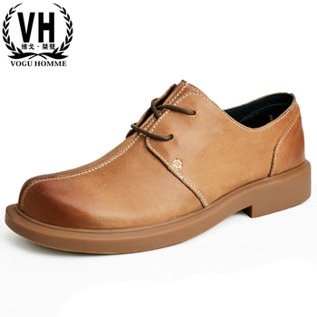 Mens shoes spring new casual Genuine leather men leisure business natural loafers autumn