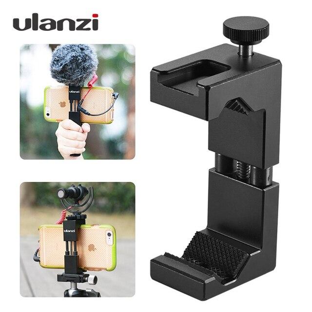 Ulanzi Smartphone Tripod Mount Aluminum Metel Universal Smart Phone Tripod Adapter Handle Grip Holder for iPhone 7 Plus Android