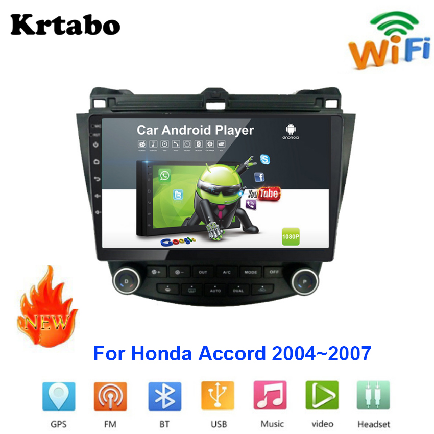 <font><b>Car</b></font> <font><b>radio</b></font> Android multimedia player For <font><b>Honda</b></font> <font><b>Accord</b></font> <font><b>2004</b></font>~2007 <font><b>Car</b></font> <font><b>touch</b></font> <font><b>screen</b></font> GPS Navigation Support Carplay Stereo Audio image