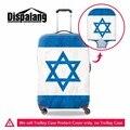 Dispalang толщиной портативный упругие камера защитная крышка Израиль Флаг шаблон водонепроницаемый путешествия багаж чемодан крышка крышка