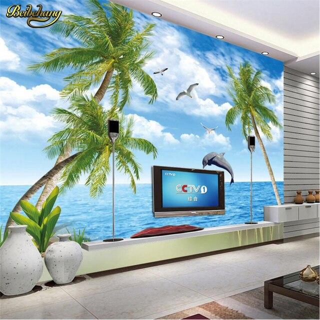 aliexpress : beibehang delphin palmen benutzerdefinierte papel, Wohnzimmer