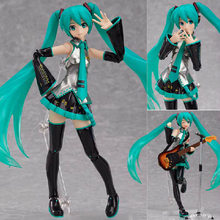 New FIGMA 200 Hatsune Miku guitar Version Anime 15CM Action Figure Model Toys Birthday Gifts(China)