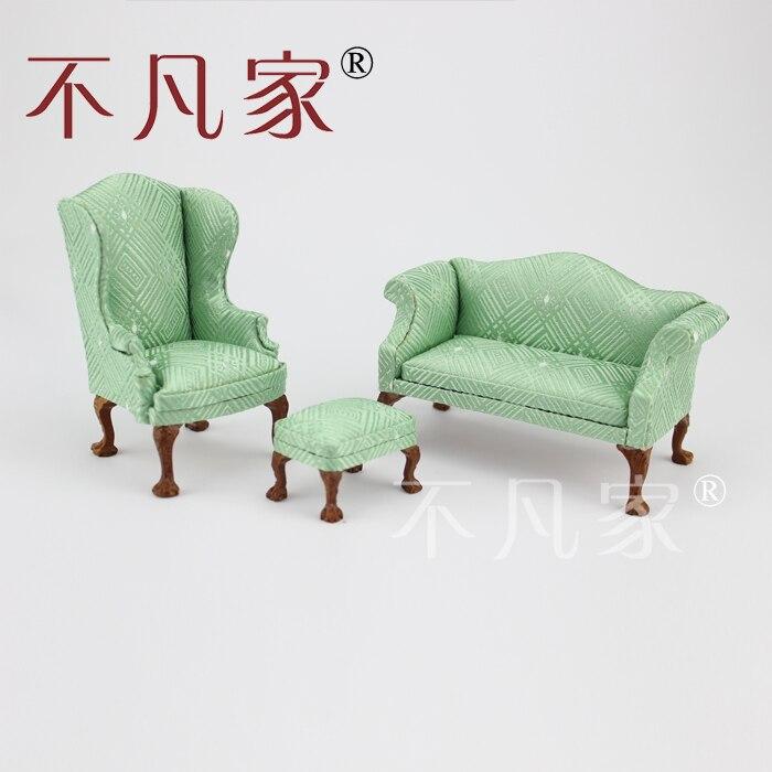 Dollhouse 1/12 Scale Miniature Furniture High Quality Hand Carved Sofa Livingroom Set