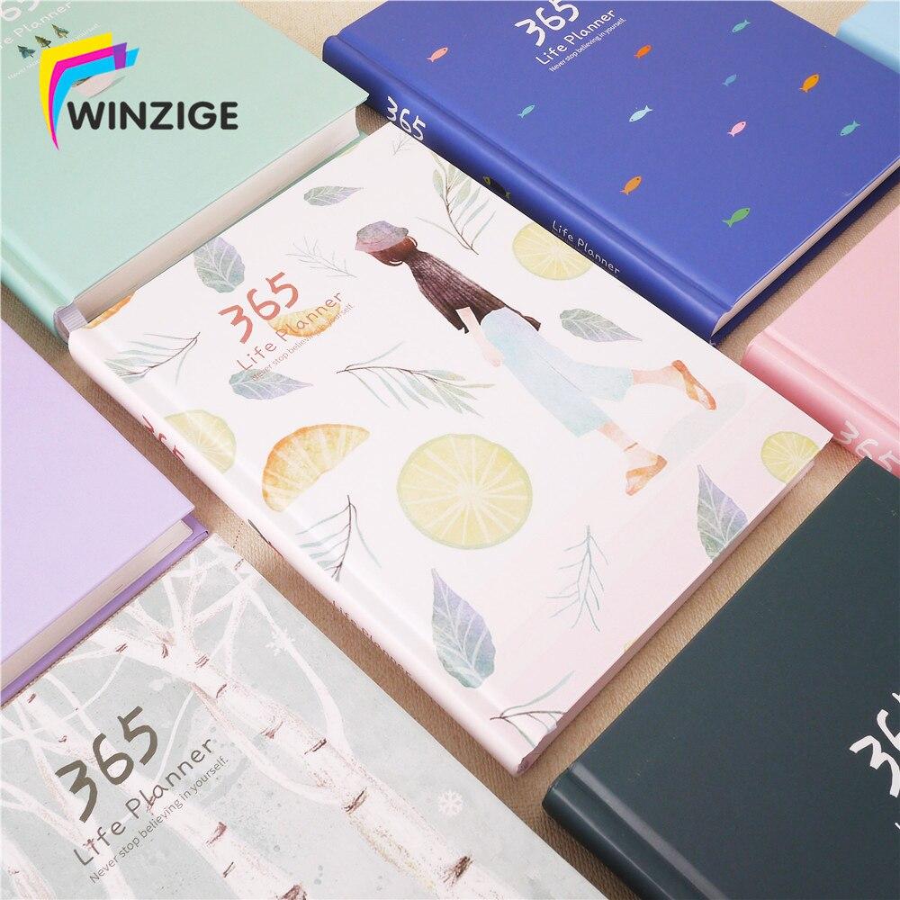 Cuaderno creativo de tapa dura de 2018 años 365 días planificador diario mensual organizador de oficina horario escolar Agenda diario