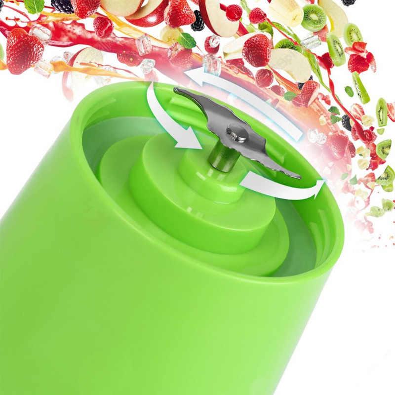 USB Copo Espremedor, Máquina de Mistura de frutas, Tamanho Pessoal portátil Elétrico Recarregável Mixer, liquidificador, Garrafa de água 380 ml com USB