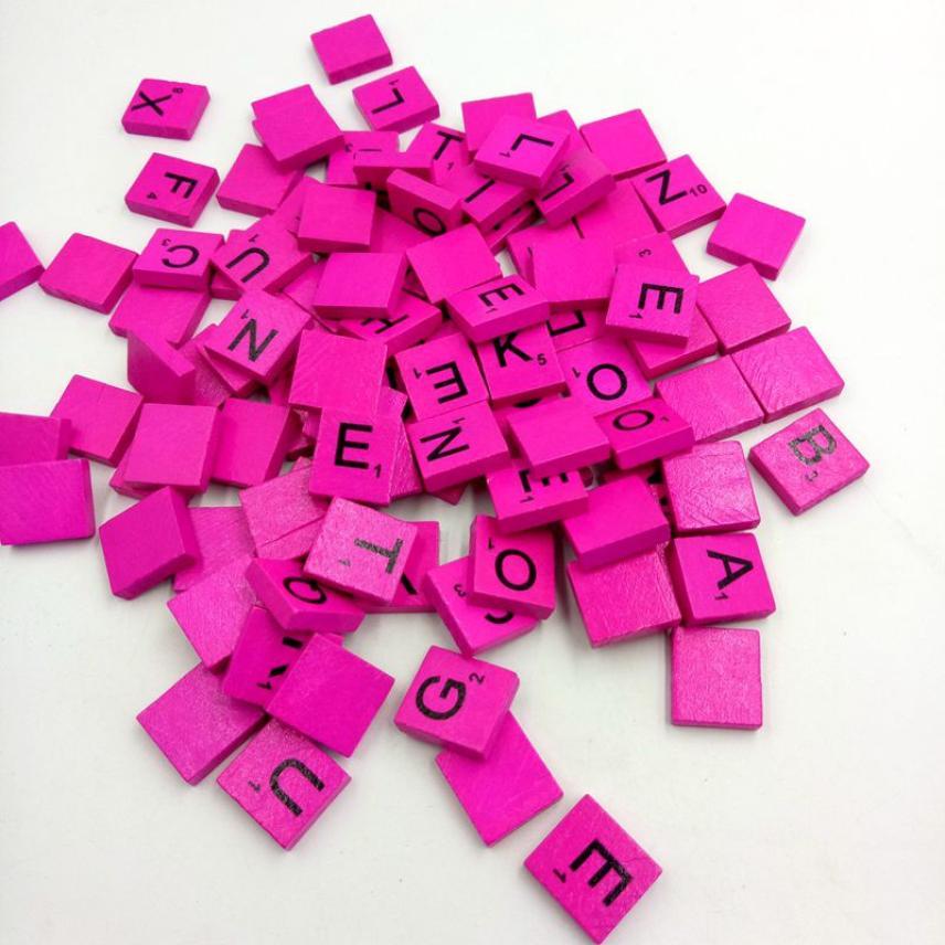 100 деревянный scrabble Плитки черные буквы Номера для Ремесла Дерево алфавитов L124 ...