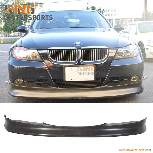 07c07961f7ce Fit 05 06 07 08 BMW E90 3 Series Front Bumper Lip PU Material IK Style