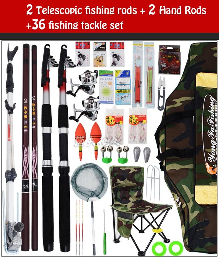 Conjunto de aparejos de pesca caña de pescar palo 2.1 4.5 polo de la - Pescando