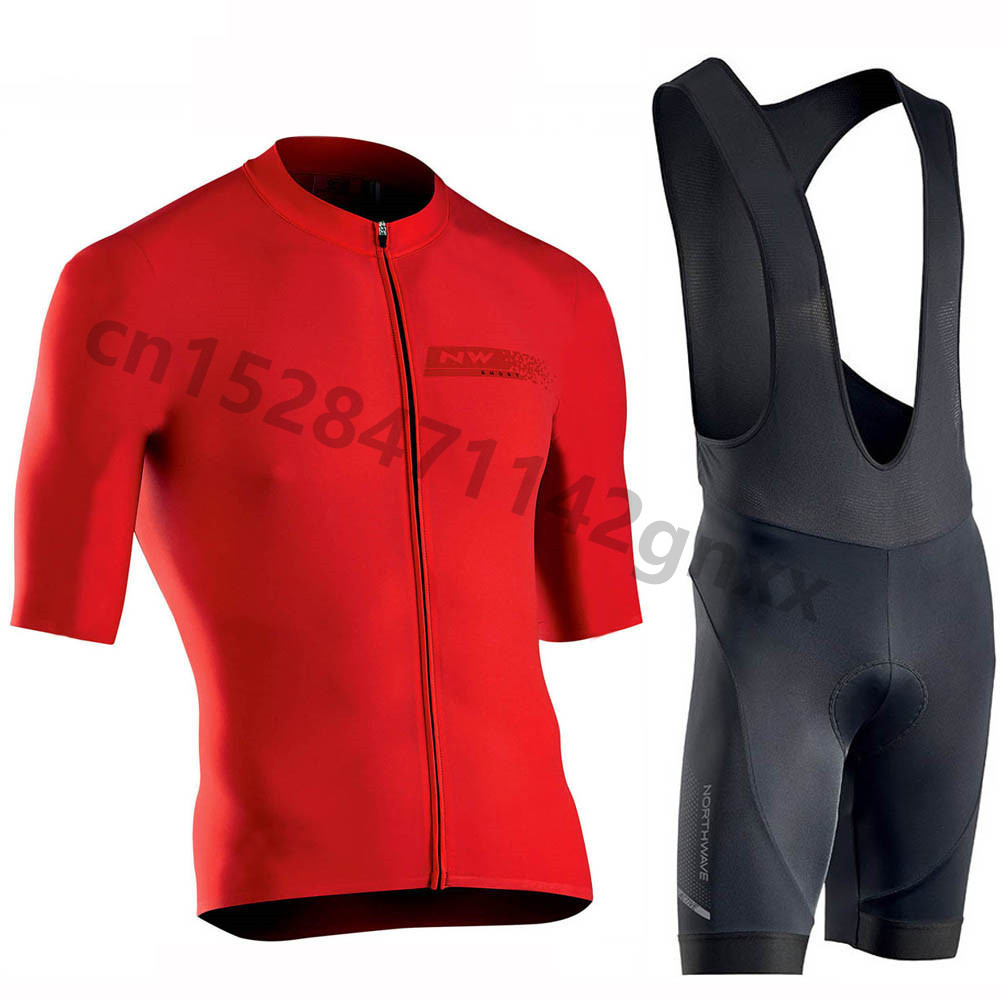 Northwave NW 2019 Summer Cycling Jersey Short Sleeve Set Pro Team Men Triathlon Quick Dry MTB Bike Clothes Maillot Ropa Ciclismo