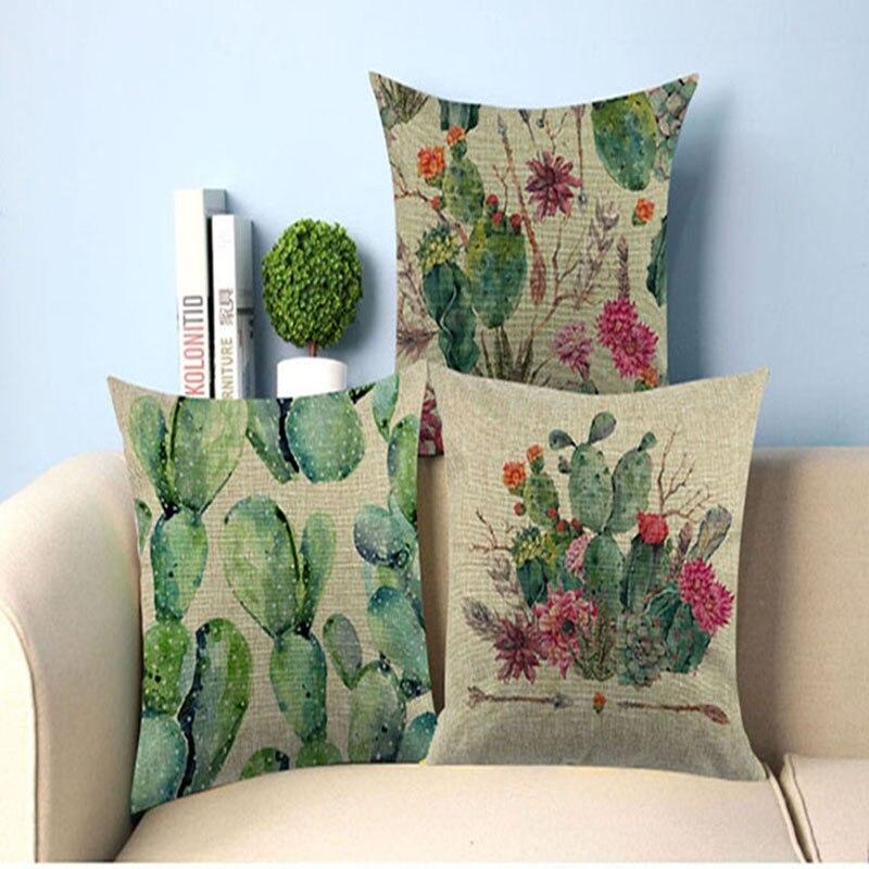 40*40 &45*45 Cushion Cover Home&Car Decor Pillowcase Brand Throw Cactus Pillows Home Decorative  Der House