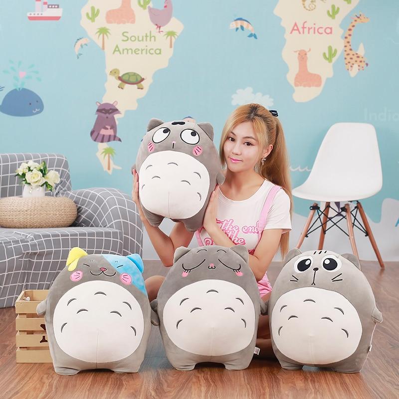 40CM Japan Anime Totoro Plush Toys Stuffed Cartoon Figure Pillow Soft Cute Cushion Kids Love Doll Kawaii Birthday Gift for Girls mini kawaii plush stuffed animal cartoon kids toys for girls children baby birthday christmas gift angela rabbit metoo doll